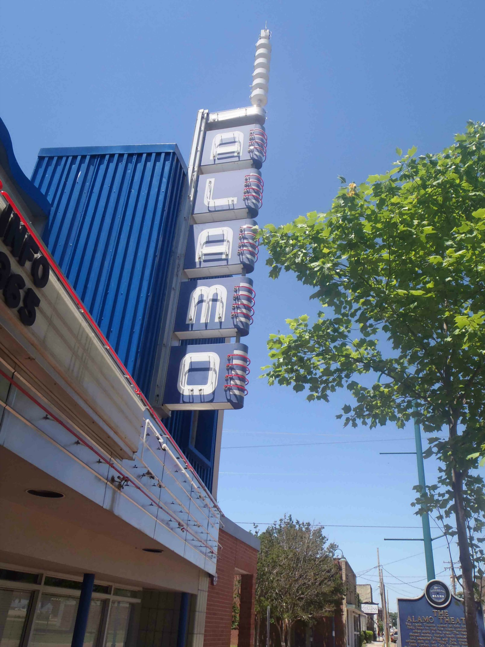 Alamo Theatre sign, Farish Street, Jackson, Mississippi