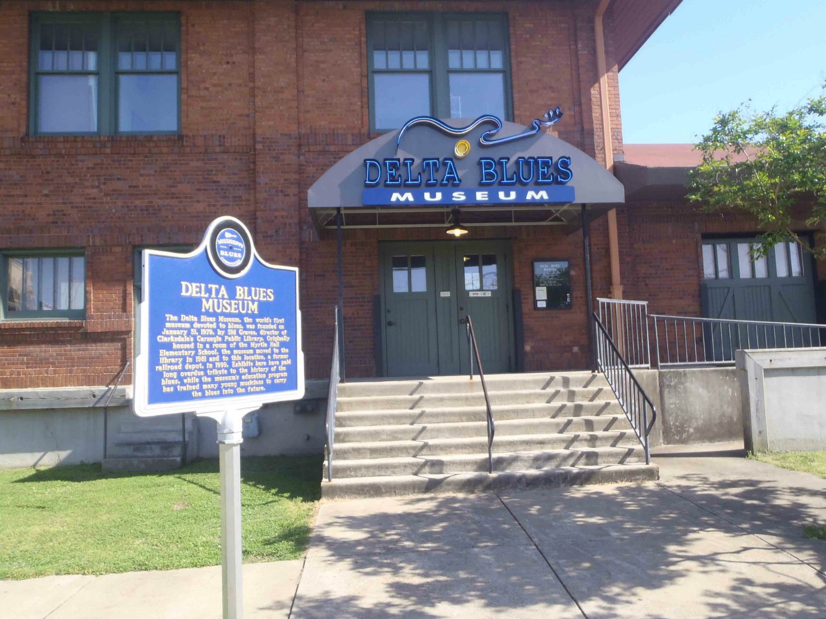 Delta Blues Museum, old Clarksdale Rail Depot section, Clarksdale, Mississippi