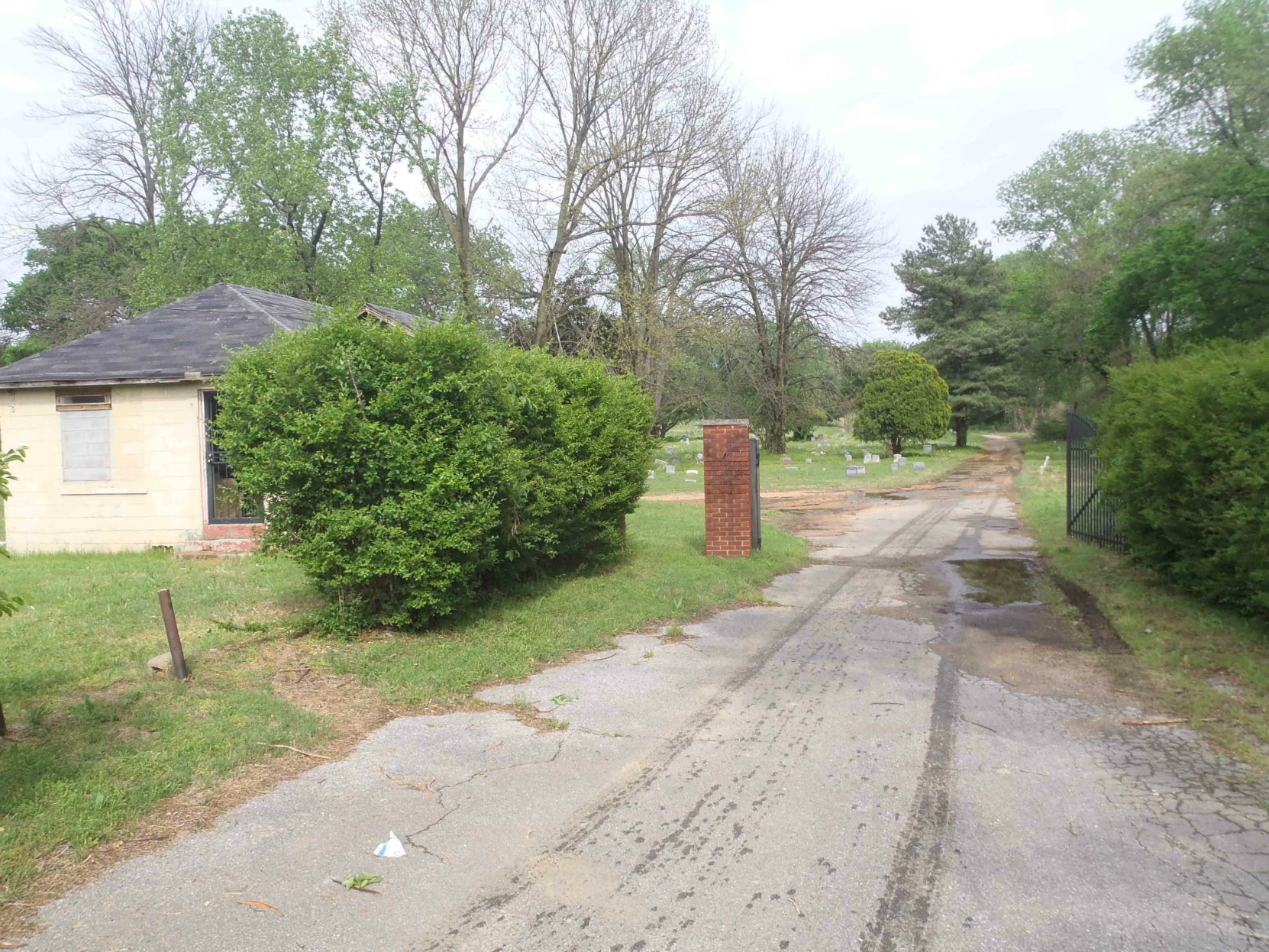 Entrance to Hollywood Cemetery, Memphis, Tennessee