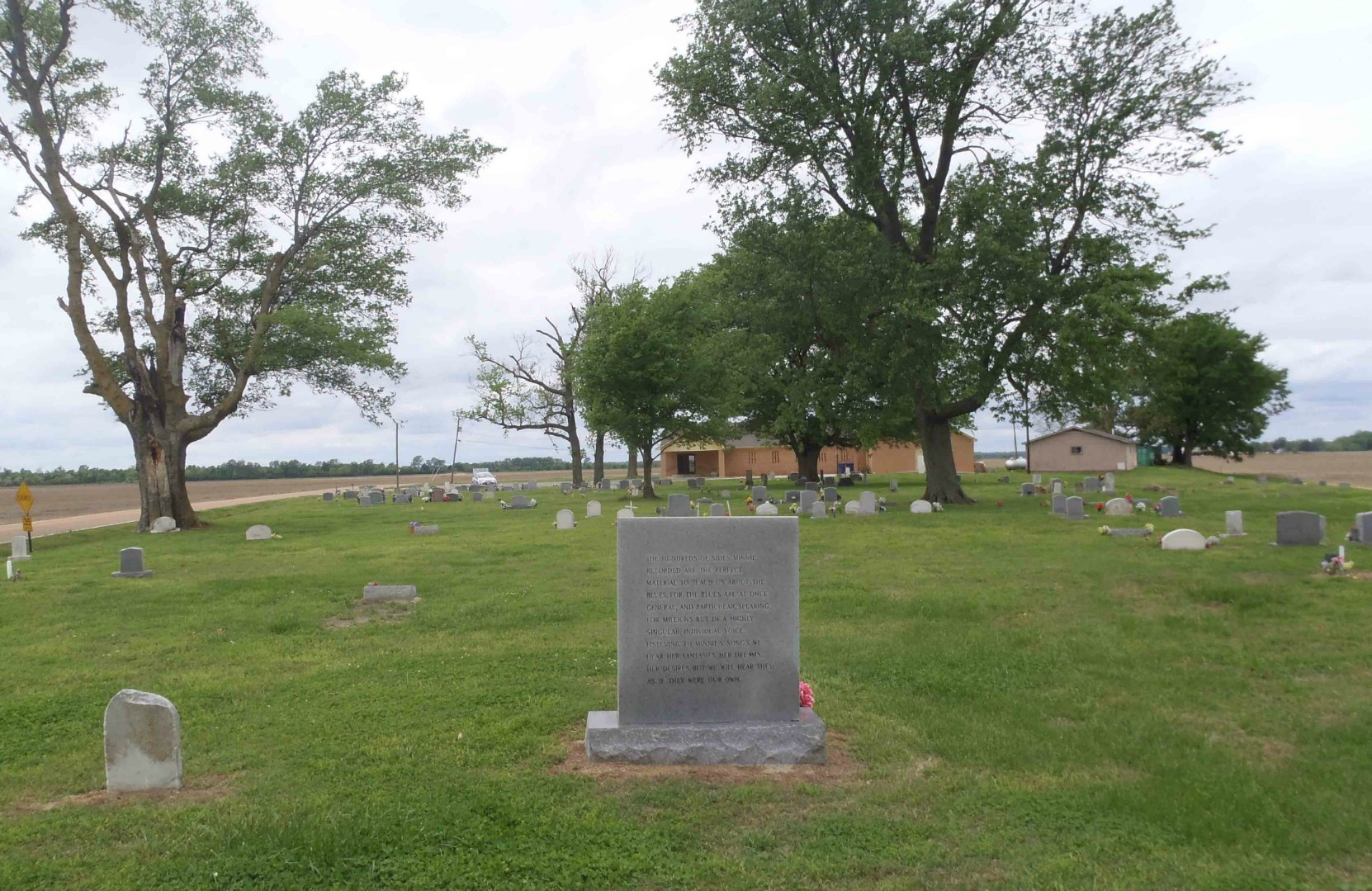 Memphis Minnie's gravestone, New Hope Baptist Church, Walls, Mississippi