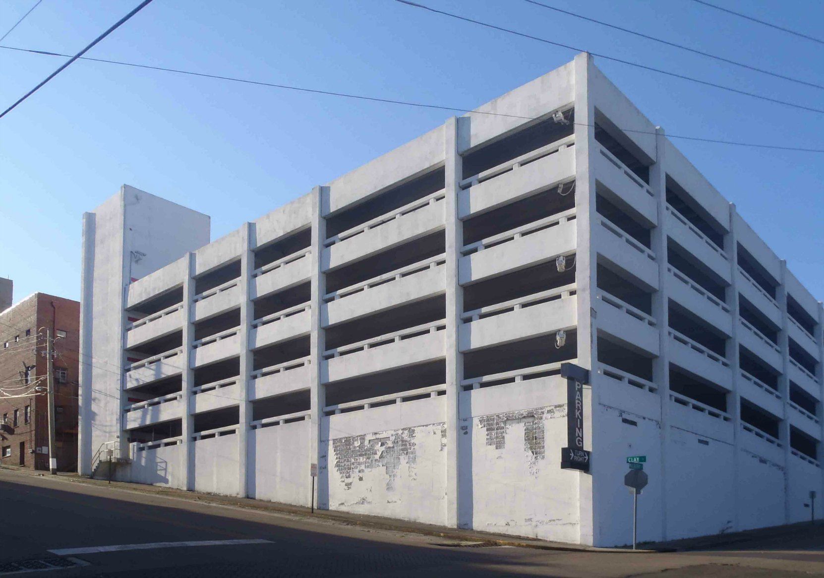 A multi-storey parking lot now stands on the former site if Harold Wince's club, the Blue Room.