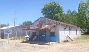 "The Blue Front Cafe in Bentonia, Yazoo County, Mississippi. Owned and operated by Jimmy ""Duck"" Holmes. (photo by Mississippi Blues Travellers)"