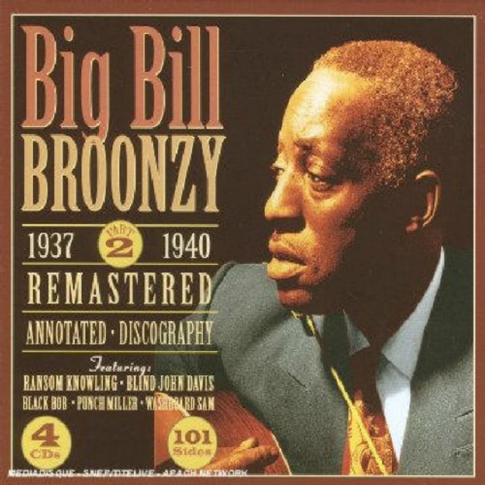 CD cover. Big Bill Broonzy, 1937-40, on JSP Records