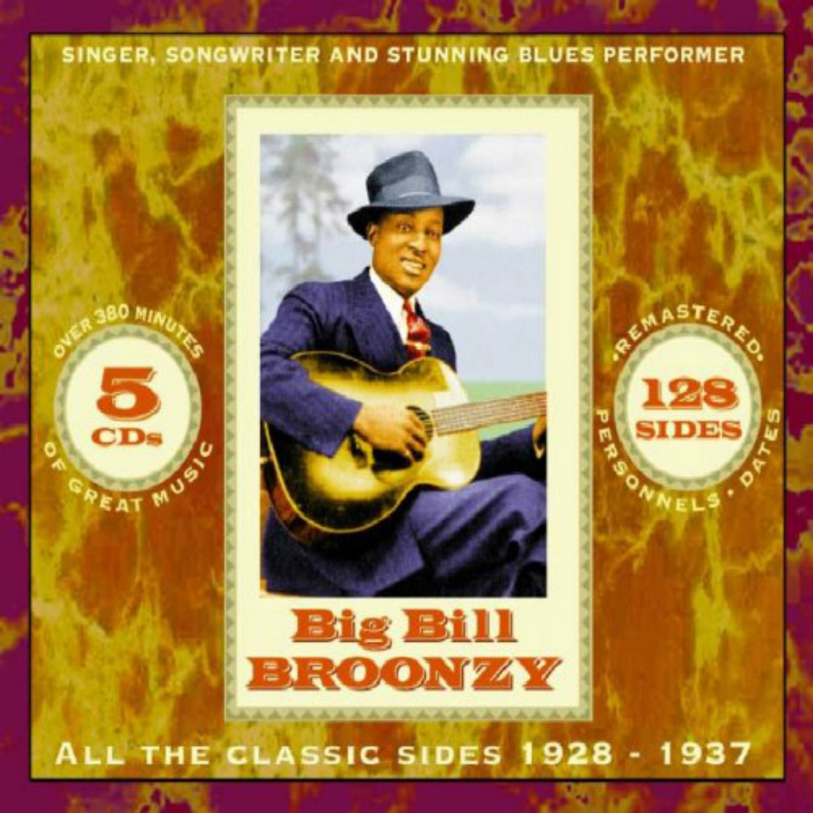 CD cover. Big Bill Broonzy, All The Classic Sides 1928-37, on JSP Records