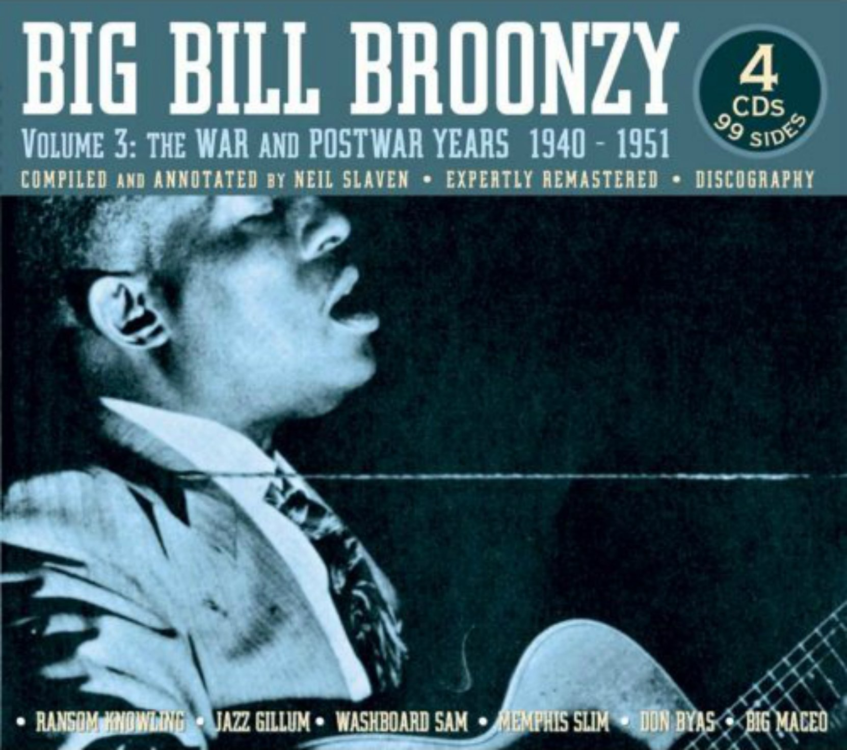 CD cover. Big Bill Broonzy, Volume 3: The War and Postwar years 1940-51, on JSP Records
