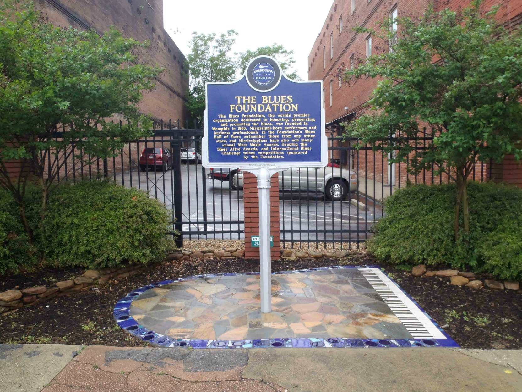 Mississippi Blues Trail marker, The Blues Foundation, S. Main Street, Memphis, Tennessee