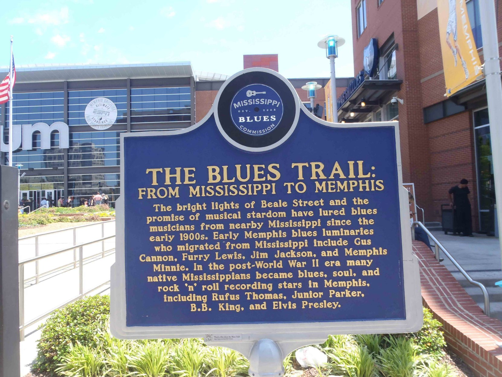 Mississippi Blues Trail marker, The Blues Trail: From Mississippi to Memphis, Memphis, Tennessee