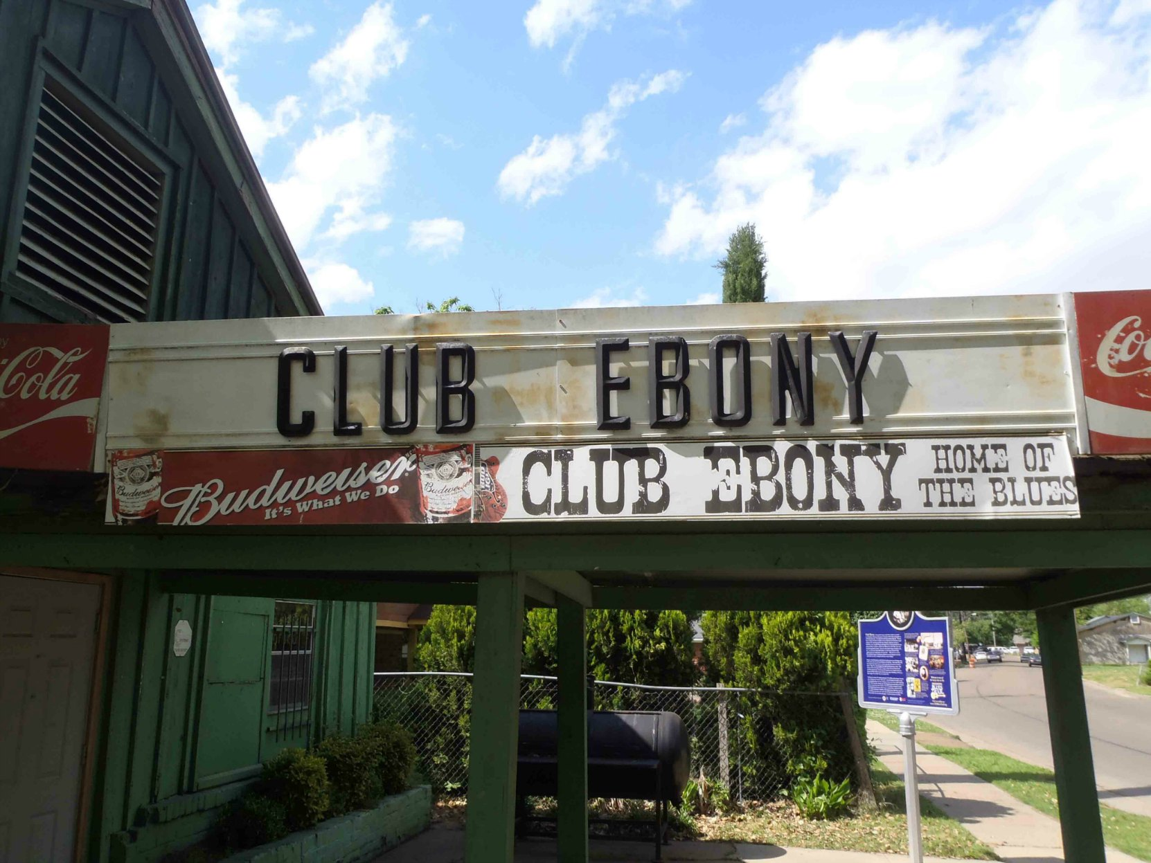 Club Ebony marquee, 404 Hannah Street, Indianola, Mississippi