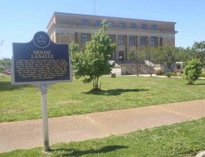 Mississippi Blues Trail marker for Denise Lasalle, Belzoni, Mississippi