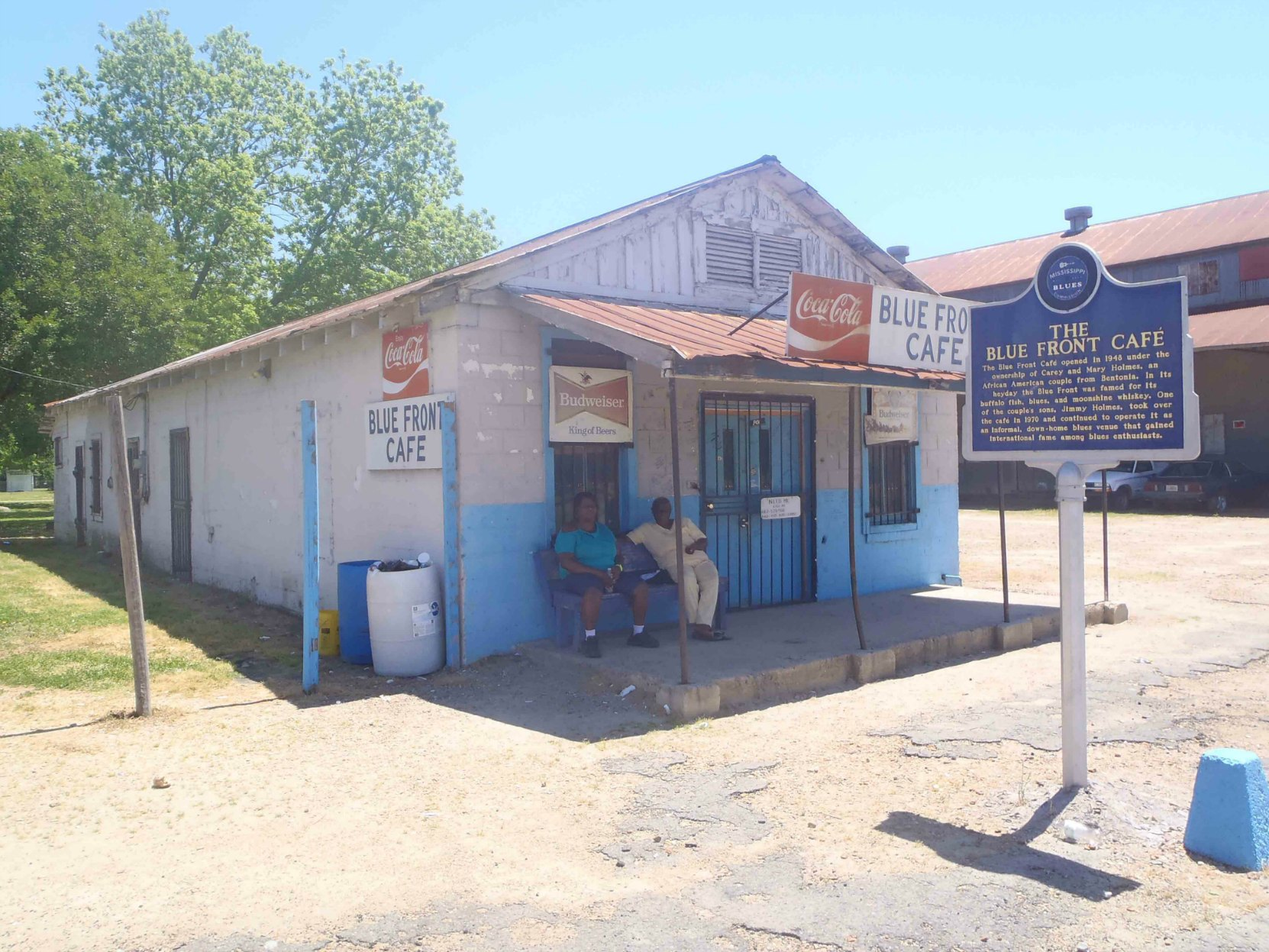 The Blue Front Cafe in Bentonia, Yazoo County, Mississippi. Operated by Jimmy Holmes.