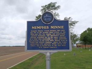 Mississippi Blues Trail marker for Memphis Minnie, Walls, Mississippi