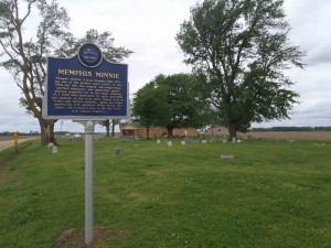 Mississippi Blues Trail marker for Memphis Minnie, Walls, Mississippi