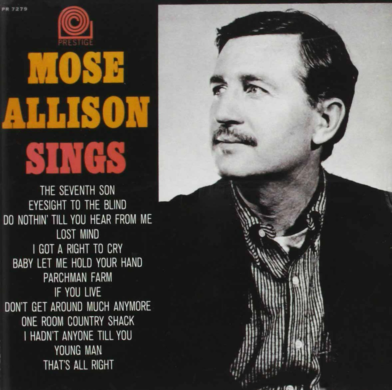 CD cover, Moses Allison Sings by Moses Allison, on Prestige Records