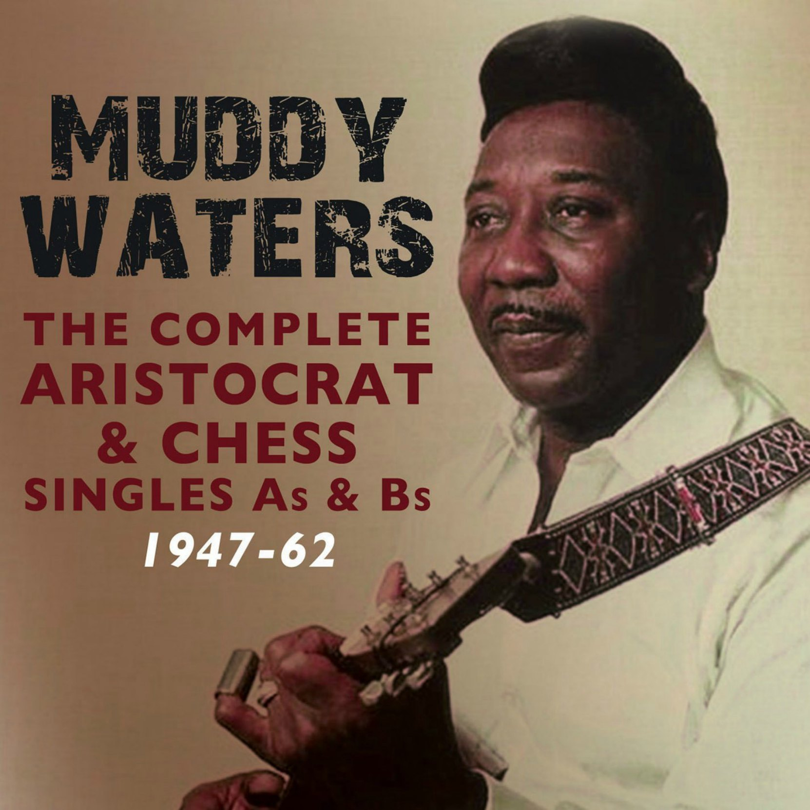 CD cover, Muddy Waters, The Complete Aristocrat & Chess Singles As & Bs 1947-62, on Acrobat Records