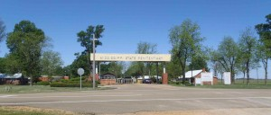 The main gate of the Mississippi State Penitentiary at Parchman Farm