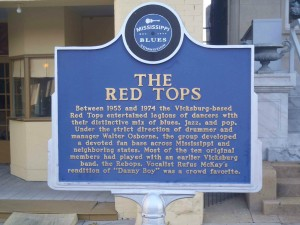 Mississippi Blues Trail marker for the Red Tops, Vicksburg, Mississippi