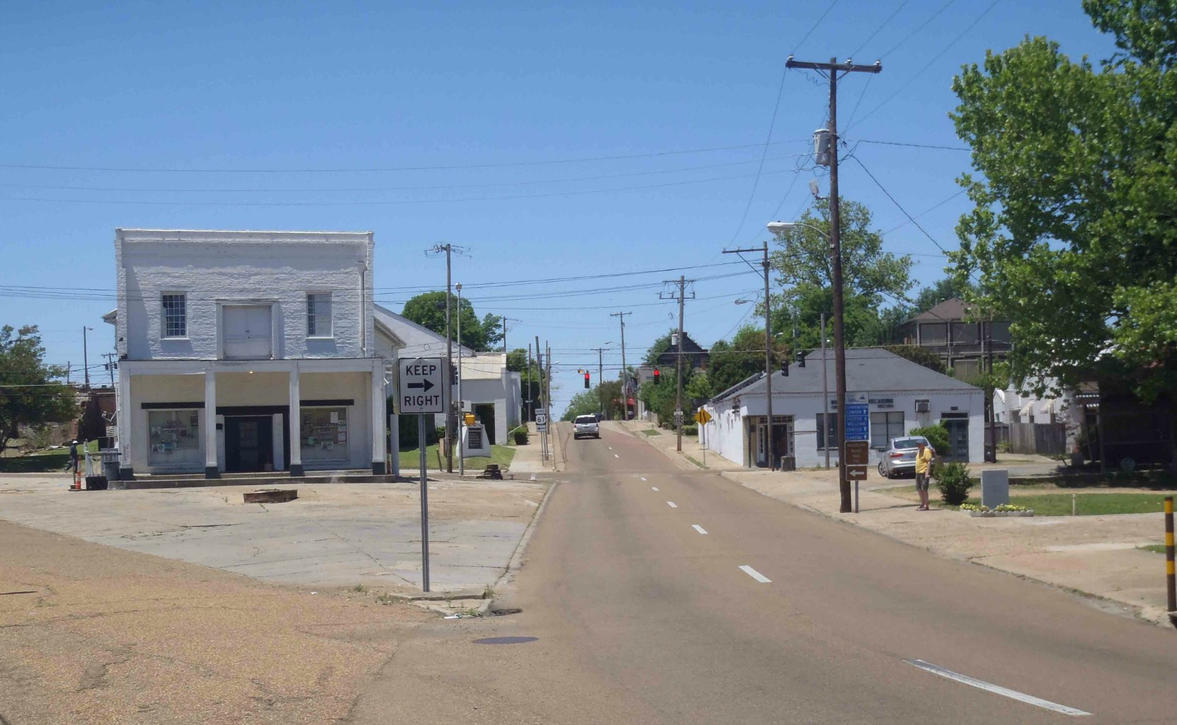 Street view at the site of the Rhythm Night Club Fire, Natchez, Mississippi