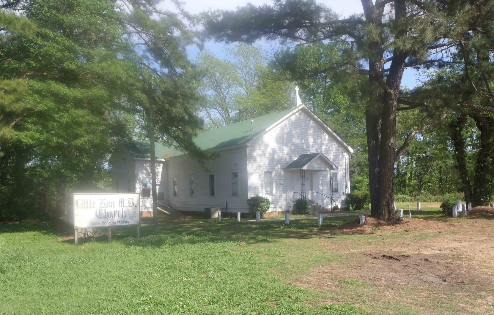 Little Zion Missionary Baptist Church, near Money, Leflore County, Mississippi, site of one of three reputed Robert Johnson grave sites.