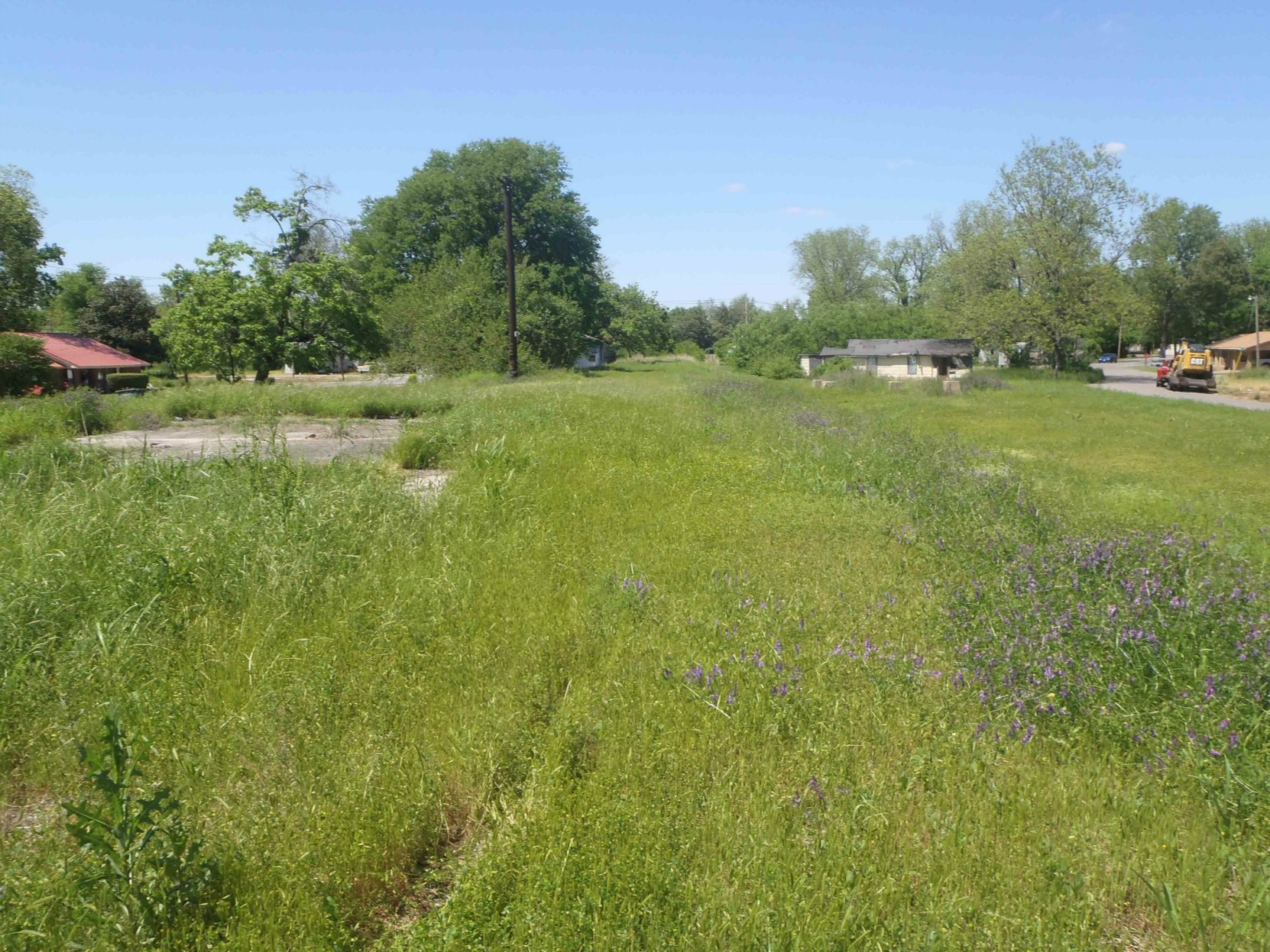 The site of Rosedale's former train station, now the location of the Mississippi Blues Trail's Rosedale marker