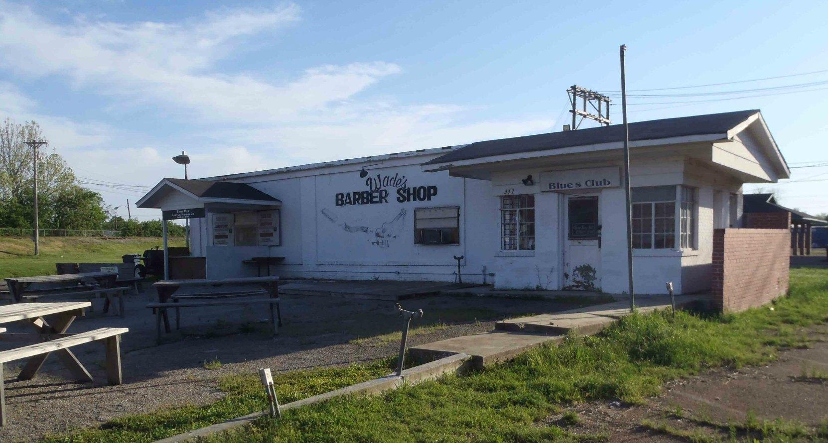 Wade Walton's Barber Shop, Clarksdale, Mississippi.