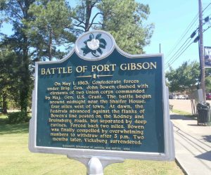 Mississippi Department of Archives & History marker commemorating the Battle of Port Gibson, downtown Port Gibson, Claiborne County, Mississippi.