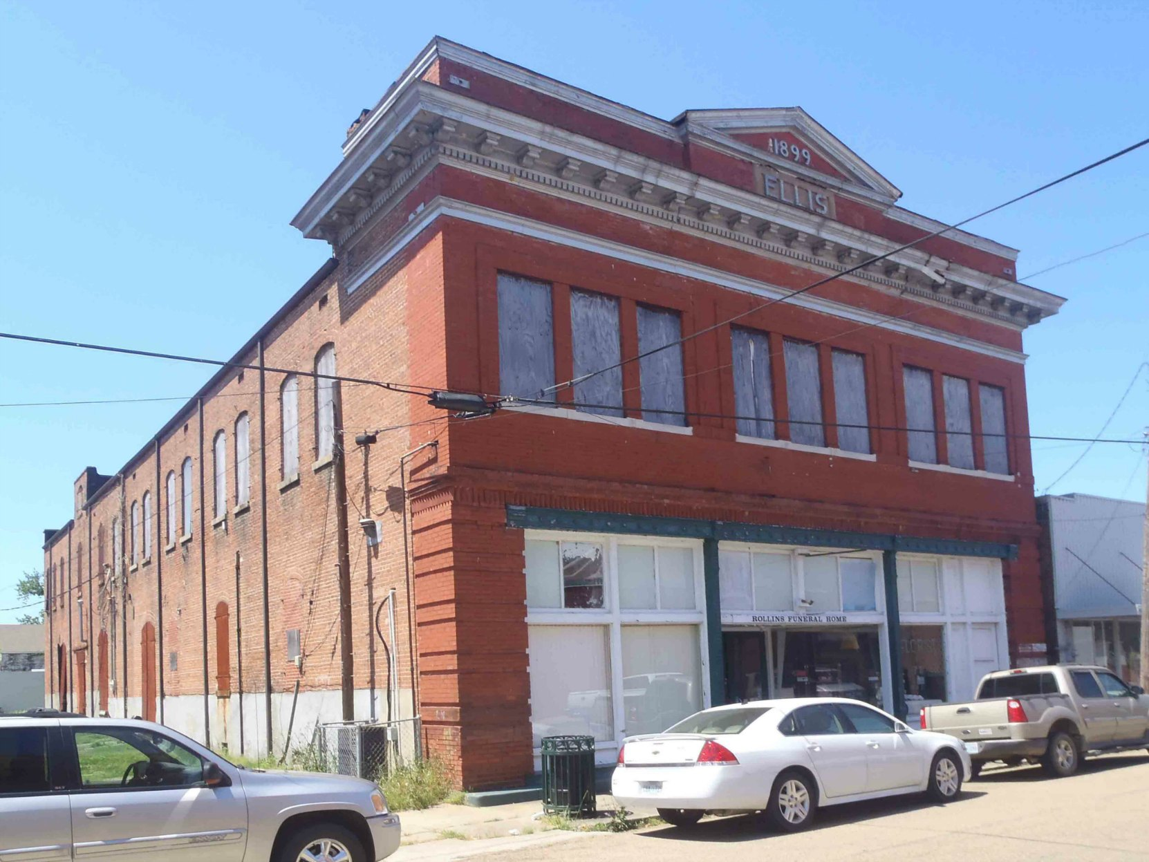 One of the commercial buildings in the Bernheimer Complex, Port Gibson, Claiborne County, Mississippi