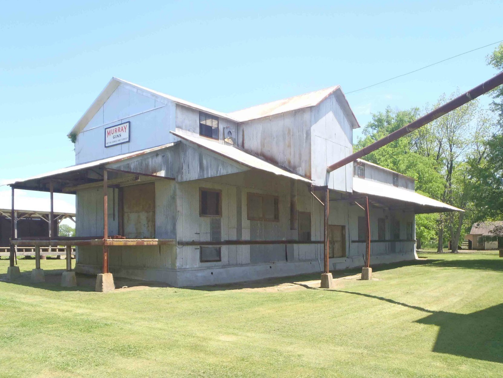 The former cotton gin building, Dockery Farms, Highway 8, Sunflower County, Mississippi