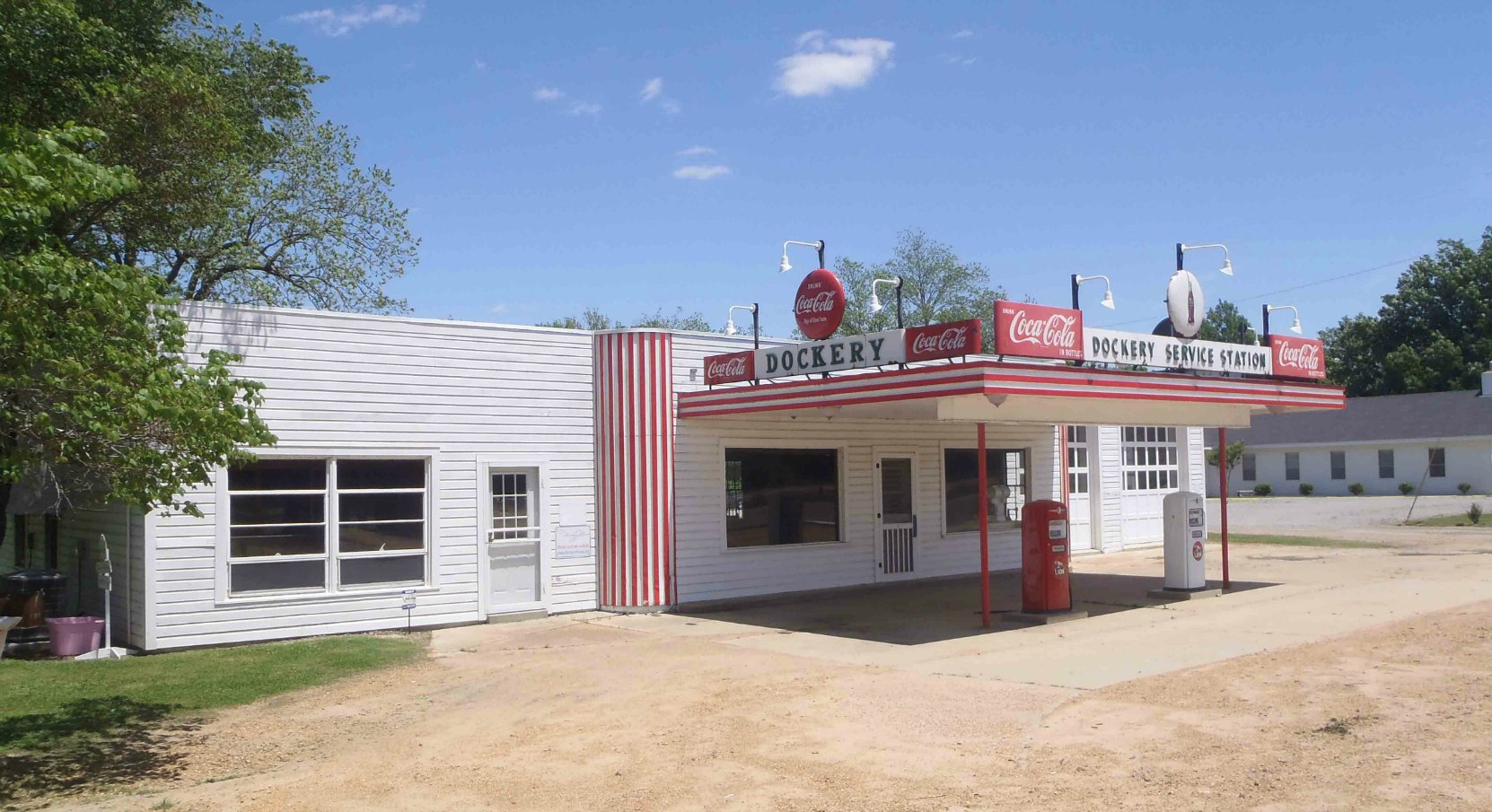 The Dockery Farms Service Station, Highway 8, Sunflower County, Mississippi