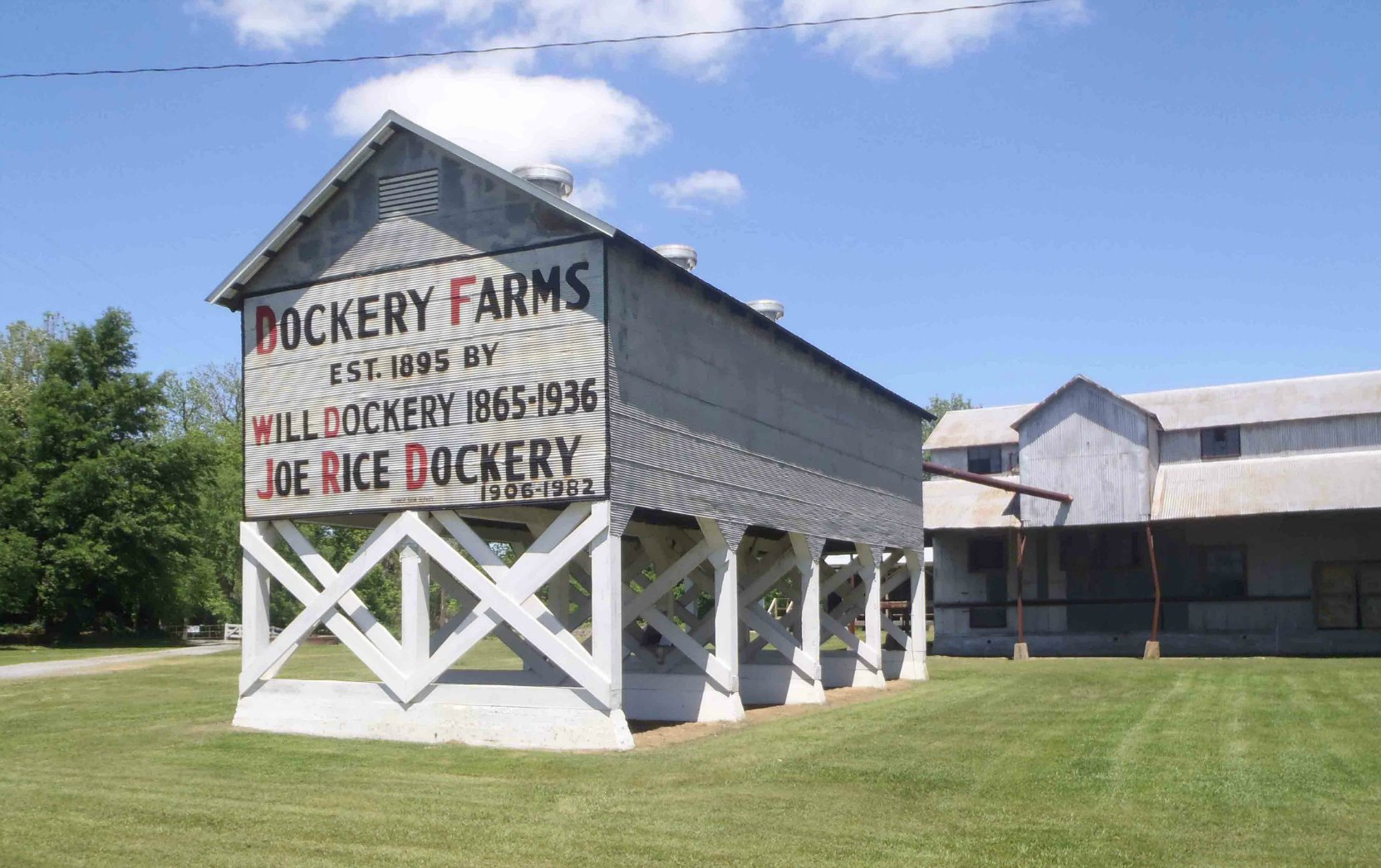 The Dockery Farms entrance sign, Highway 8, Sunflower County, Mississippi
