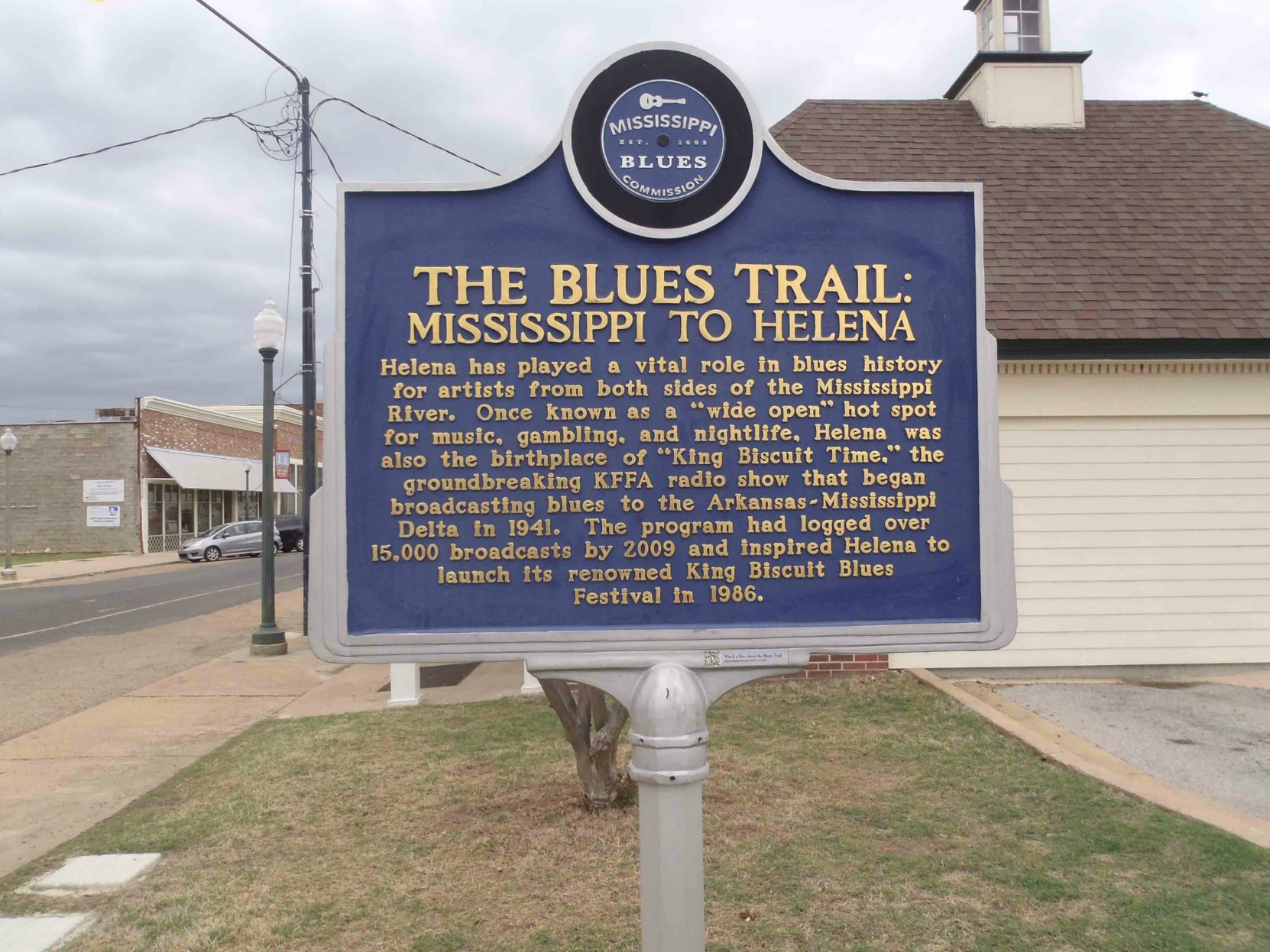 Mississippi Blues Trail marker, The Blues Trail: Mississippi To Helena, Helena, Arkansas