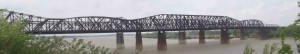"The Mississippi Bridge from Chuck Berry's 1958 hit, Memphis, Tennessee. ""Her home is on the south side, high upon a ridge, Just a half a mile from the Mississippi Bridge"