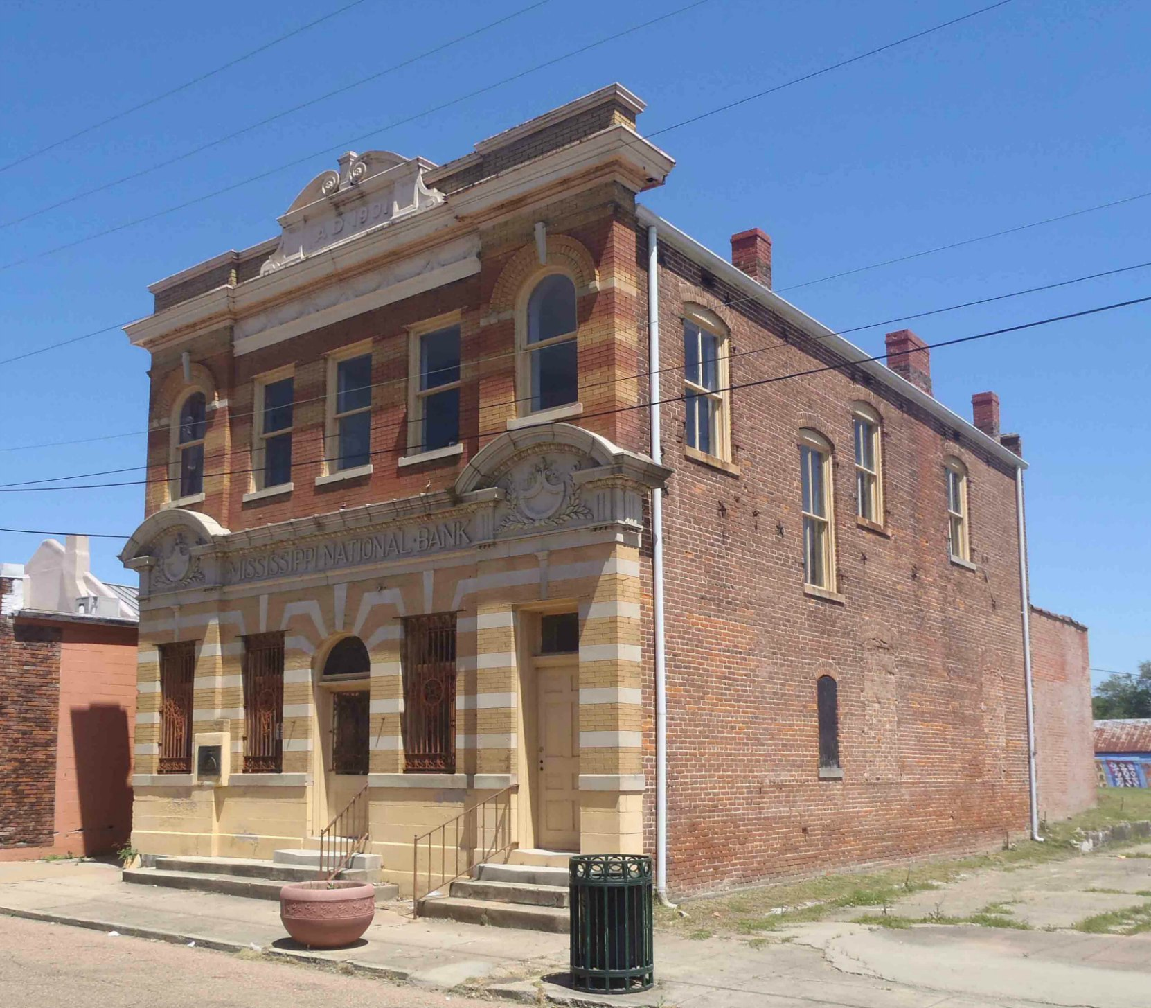 Mississippi National Bank building, built circa 1901. Part of the Bernheimer Complex, Port Gibson, Missisippi