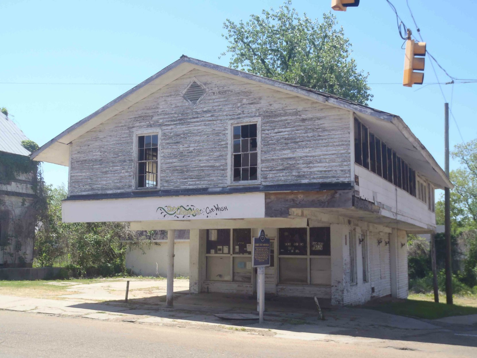 Mississippi Blues Trail marker for the Rabbit Foot Minstrels, Port Gibson, Mississippi. Since Our last visit to Port Gibson, the building in this photo was destroyed by a fire (an arson) in September 2015.