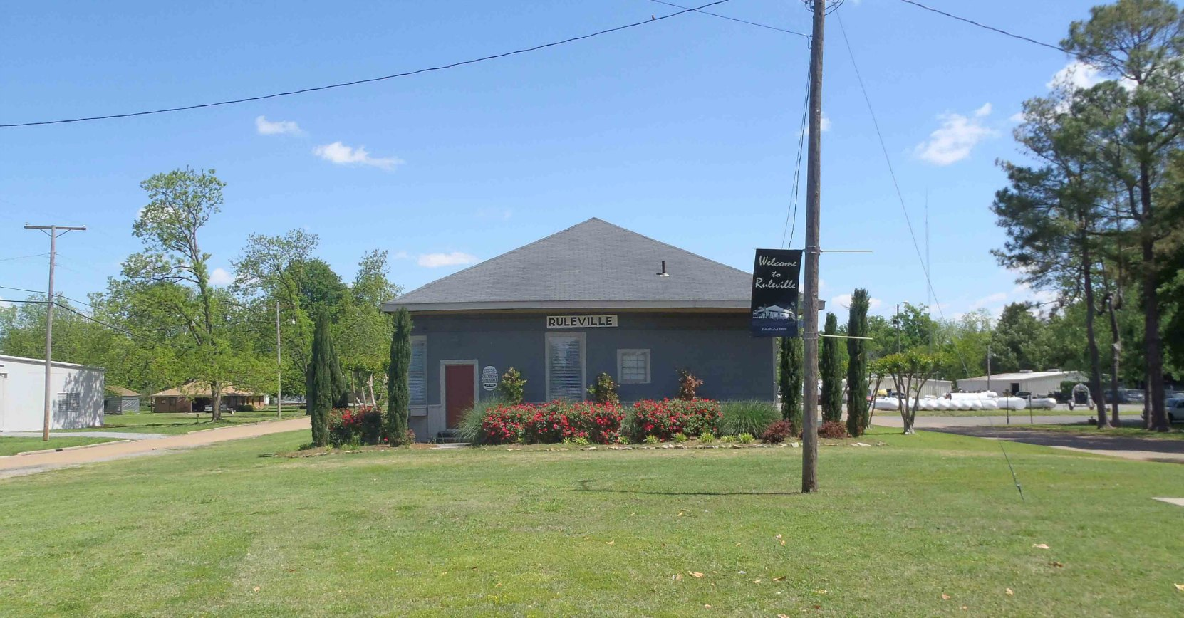 The former Ruleville Rail Depot, now the Ruleville Chamber of Commerce.