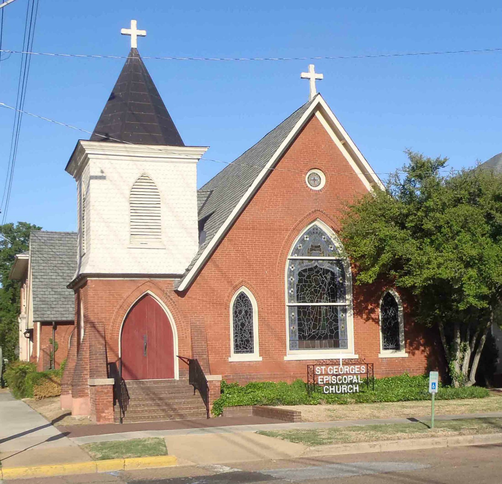 St. George's Episcopal Church, Clarksdale, Mississippi. Tennessee Williams' grandfather was Rector of this church.