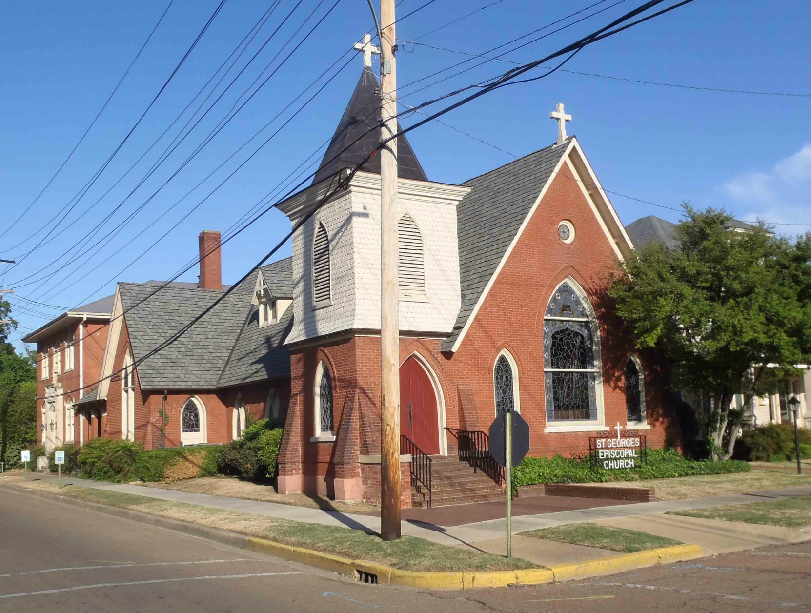 St. George's Episcopal Church, Clarksdale, Mississippi. Tennessee Williams' grandfather lived here when he was Rector of this church.