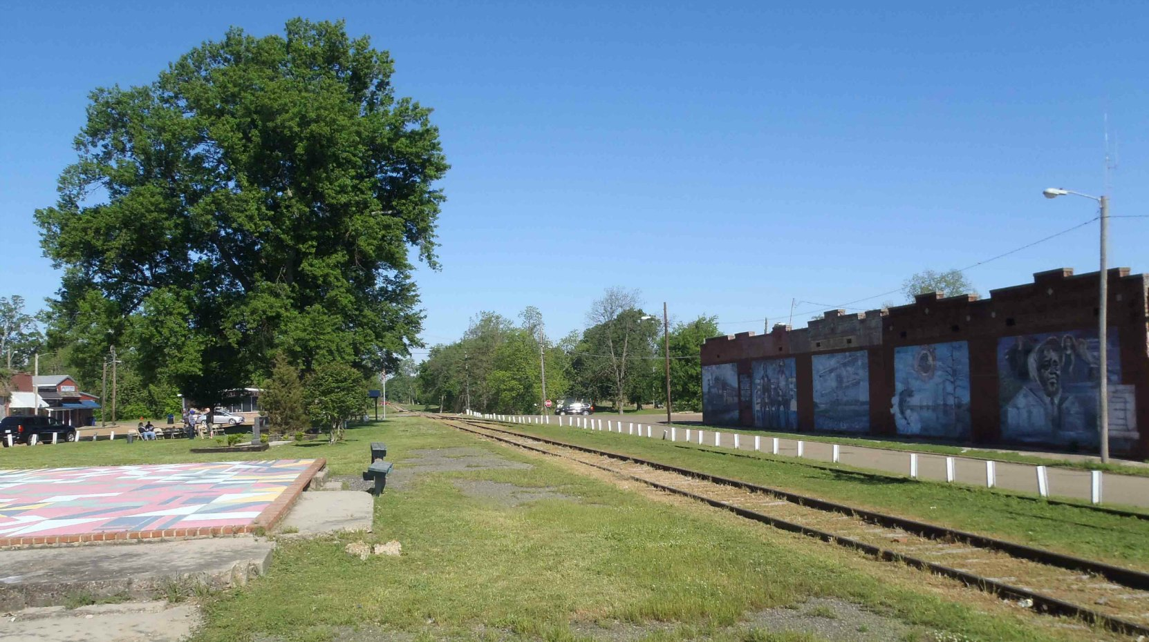 The remains of the former Tutwiler train station where W.C. Handy encountered the blues, Tutwiler, Mississippi
