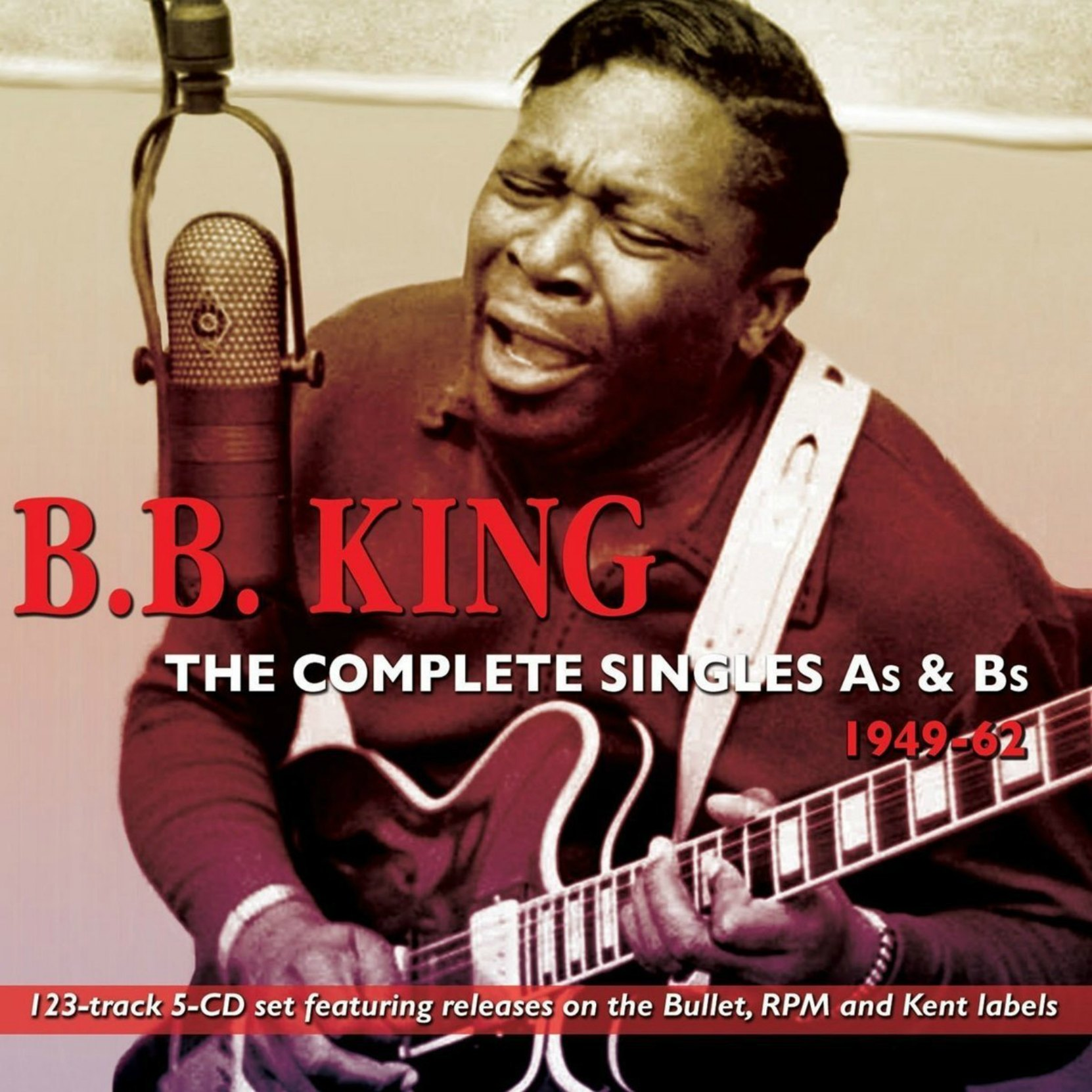 CD cover, B.B. King: The Complete Singles A's & B's 1949-62 on Acrobat Records.