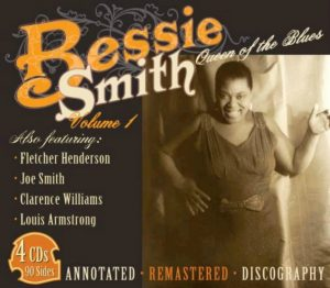 CD cover, Bessie Smith - Queen of the Blues, Volume 1, on JSP Records.