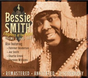 CD cover, Bessie Smith - Empress of the Blues, Volume 2: 1926-1933, on JSP Records.