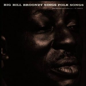 CD cover, Big Bill Broonzy Sings Folk Songs, on Smithsonian Folkways Recordings.