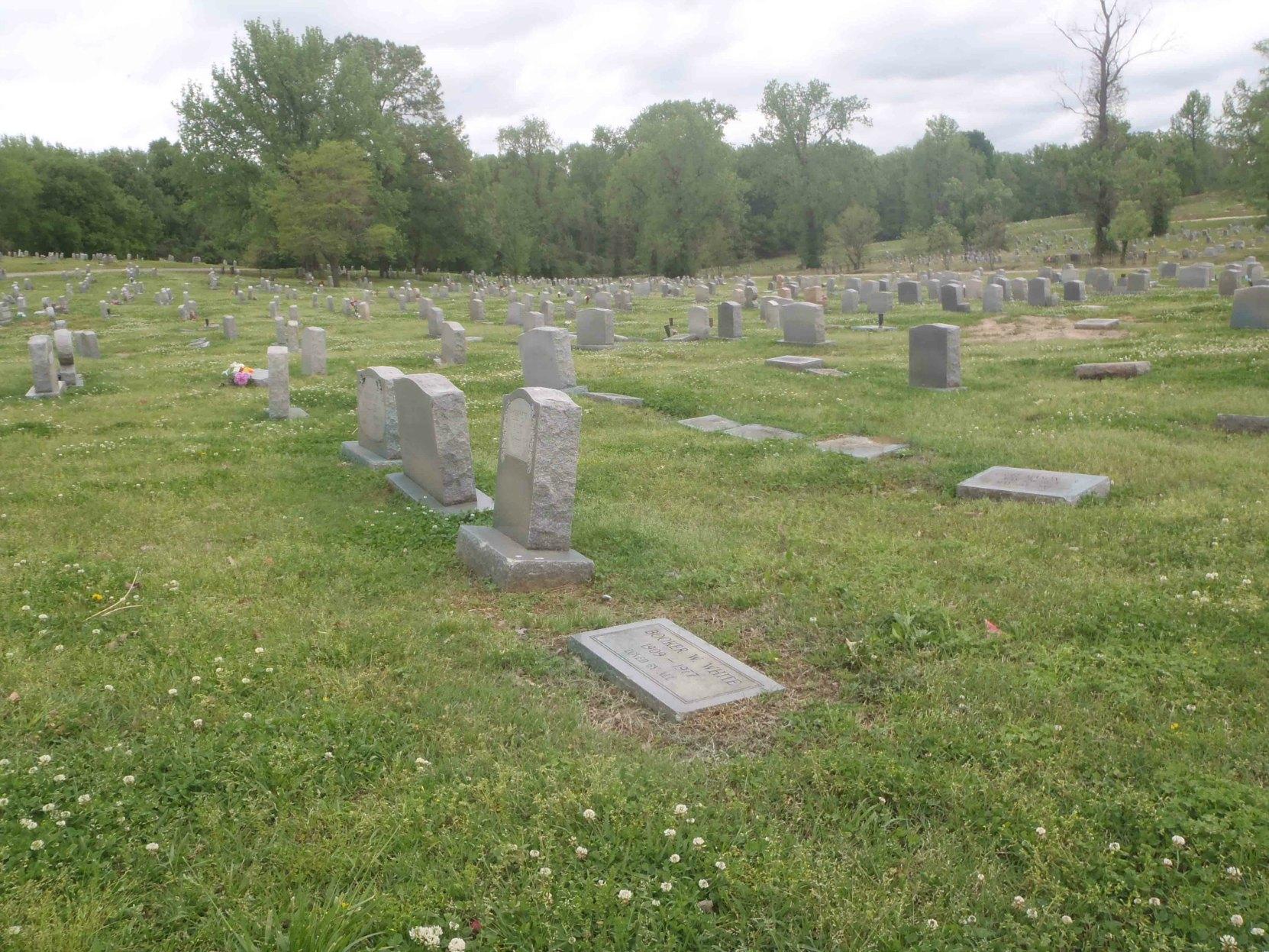 """Booker """"Bukka"""" White grave, New Park Cemetery, Memphis, Tennessee"""