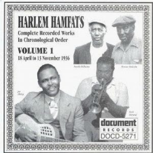 CD cover, Harlem Hamfats - Volume 1, on Document Records.