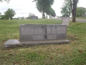 Johnny Ace (John M. Alexander) grave, New Park Cemetery, Memphis, Tennessee