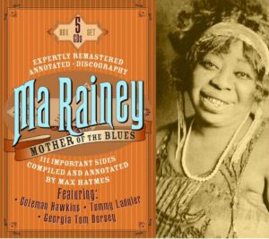 CD cover, Ma Rainey - Mother of the Blues, on JSP Records.