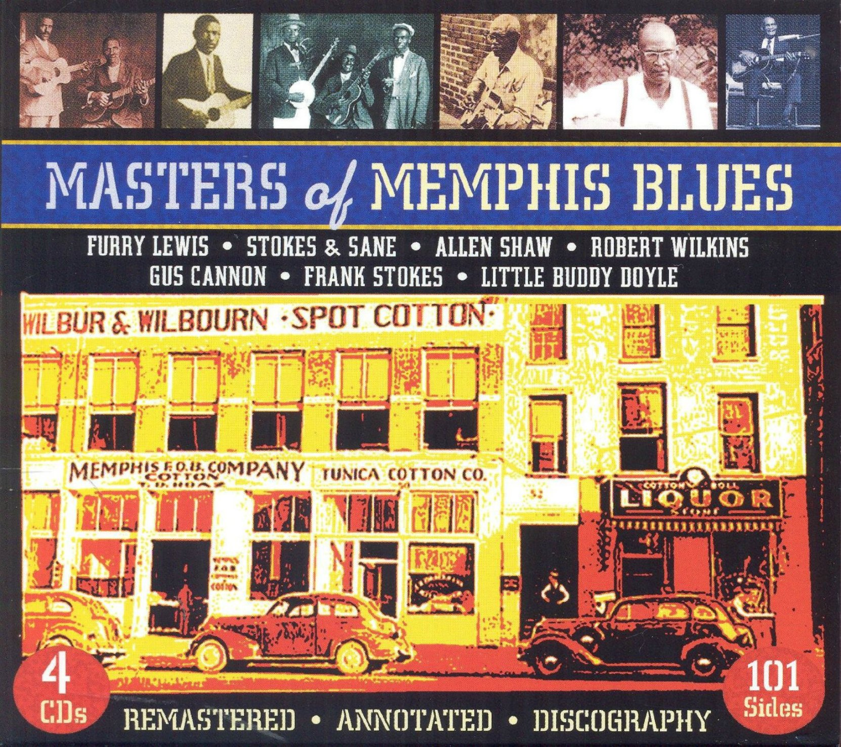 Masters of Memphis Blues, on JSP Records, CD box set cover