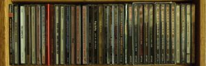 web header image for our Recommended Recordings pages, showing a shelf of CD's