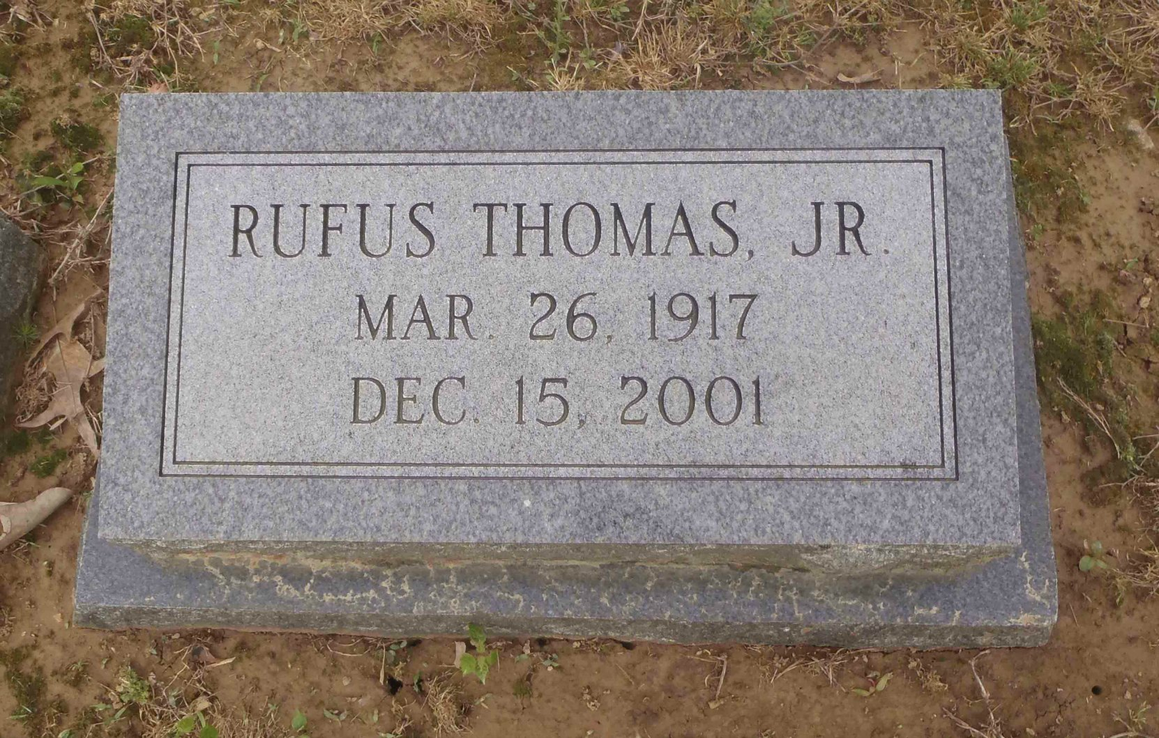 Rufus Thomas Jr. headstone, New Park Cemetery, Memphis, Tennessee