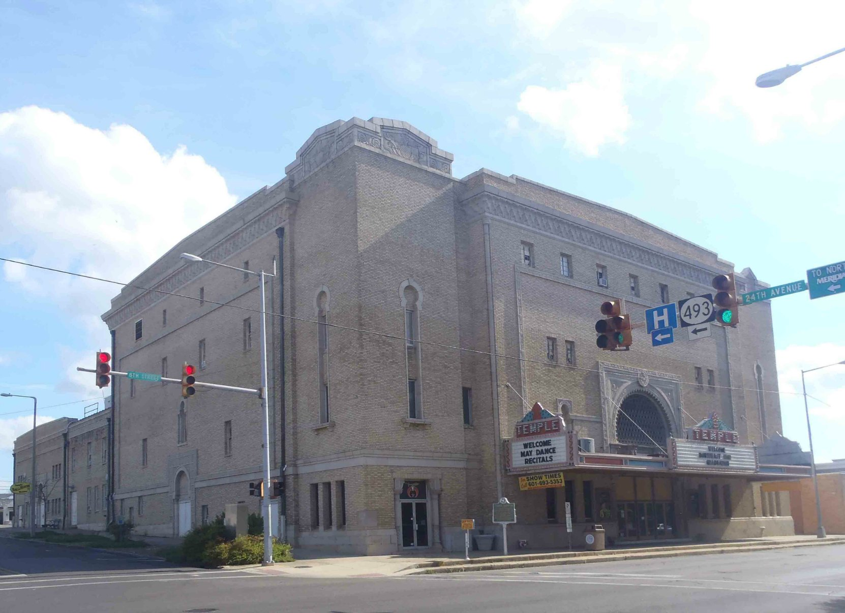 The Temple Theatre, Meridian, Mississippi.