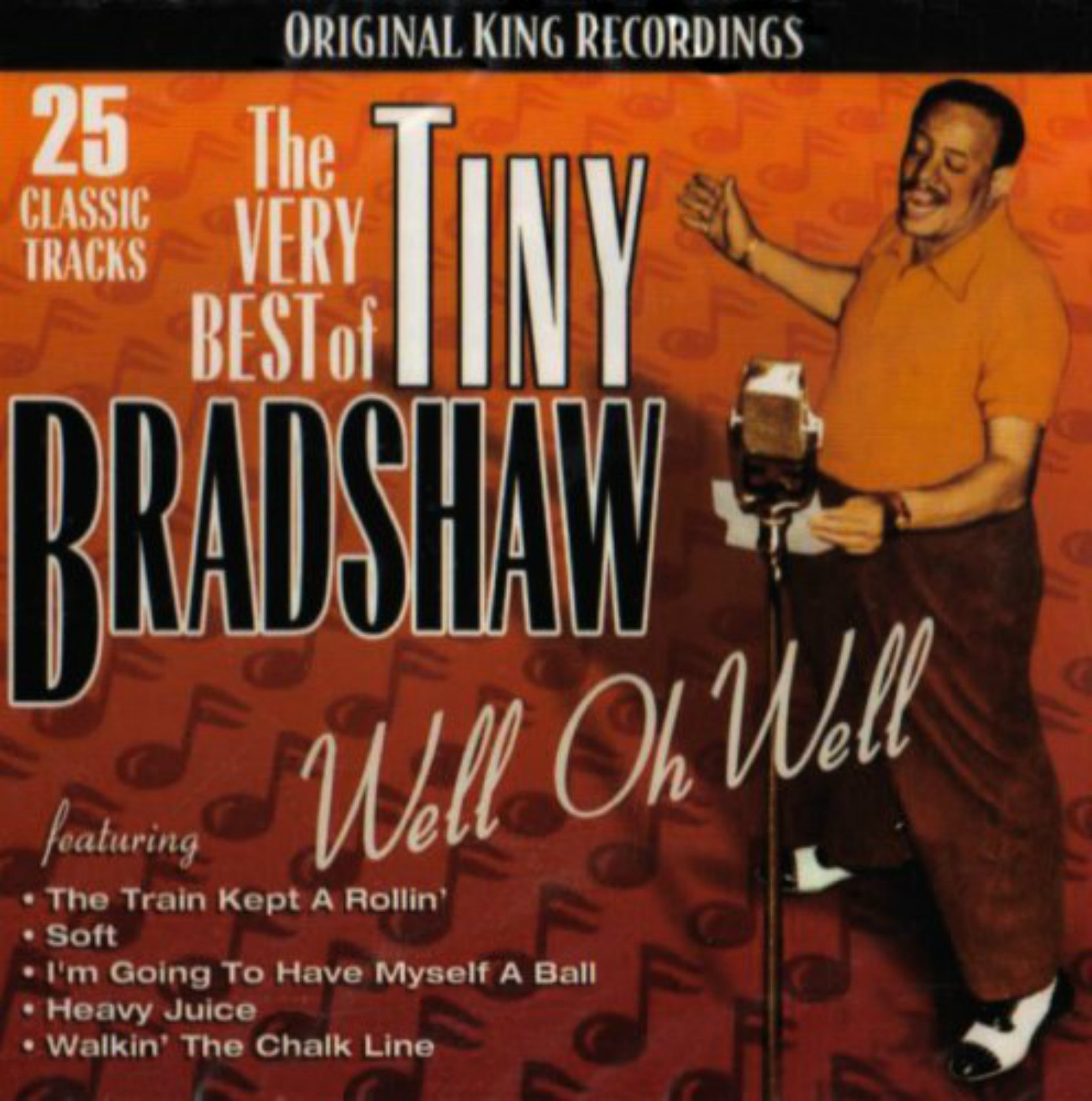 CD cover, The Very Best of Tiny Bradshaw, King Records recordings.